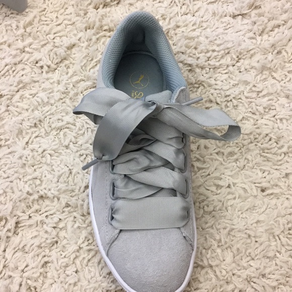Puma Shoes | Suede Light Grey Sneakers